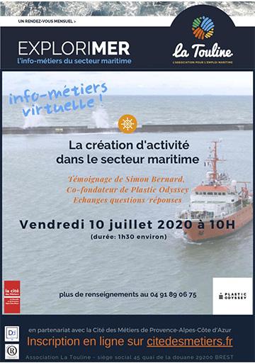 présentation de Simon Bernard à la cité des métiers de Marseille 10 juillet 2020