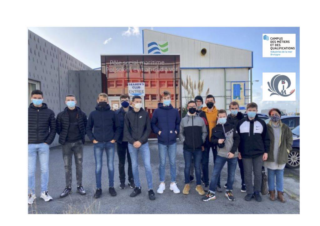 Les élèves de la 2nde Bac Pro (Maintenance des Équipements Industriel) du Lycée de La Croix Rouge à Brest